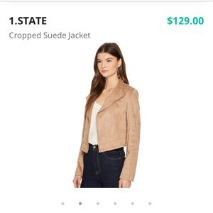 1. State Cropped Suede Jacket
